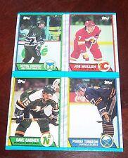 Topps Hockey  box bottom panel Kevin Dineen , Joe Mullen 1989 1990 M N O P