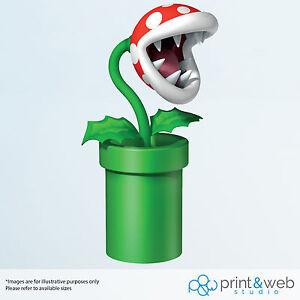 Super Mario Wall Decal Sticker Bedroom Vinyl Kids Piranha Plant