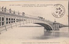 PONT-SAINT-ESPRIT 35 l'arche marinière du pont crue du rhône 12 décembre 1910