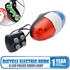 6 Bike Bicycle LED Light 4 Loud Siren Sound Trumpet Cycling Horn Bell UK SELLER
