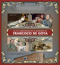 Niger 2016 MNH Francisco De Goya 270th Birth Anniv 4v M/S Art Paintings Stamps