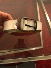 White Leather Belt Size 31-32 Maybe 33