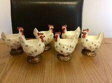 More details for vintage collectable  set of 6 x chicken egg cups