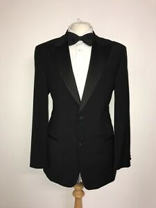 CERRUTI - Mens BLACK WOOL DINNER SUIT - 40 Reg - W36 L31.5 - WORN TWICE TUXEDO