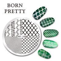BORN PRETTY Nail Art Stamping Image Plate Template DIY Wave Line Net BP-109 DIY