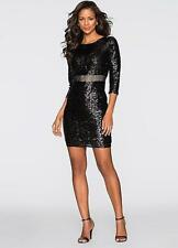 Celeb Style Black Sequin Covered Party dress Size 10 NEW