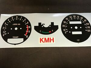 Yamaha rd250lc rd350lc clock decals. MPH to KMH clock