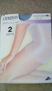 CHARNOS 24/7 BODY SHAPER TIGHTS x2 LARGE