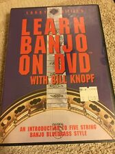 Larry Little's Learn Banjo On Dvd Will Bill Knopf (Dvd, 2002) Sealed New Free Sh