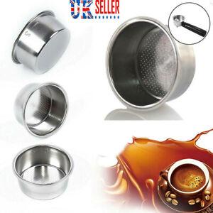 Stainless Steel Coffee Filter Basket Non Pressurized For Breville Delonghi Krups