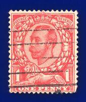 1912 SG342 1d Scarlet (Die-2, wmk IC) N11(1) Good Used bavf