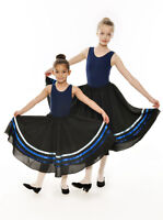 Girls Navy Royal Blue Ribbon RAD Character Skirt Dance Ballet All Sizes By Katz