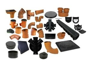 Underground Drainage, Pipes, Fittings, Junctions, Bends & more all in 1 listing