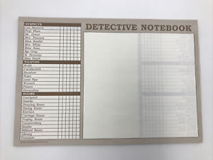 Replacement Parts - CLUE MASTER DETECTIVE  Notebook Sheets