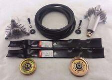 """Sears Craftsman LT3000 42"""" Mower Deck Rebuild Kit Spindles Blades Belt Idlers"""