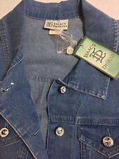 Women's Stretch Twill Denim Jacket Size Small Isaac's Designs