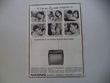 advertising Pubblicità 1966 TELEVISORE NAONIS PN 11