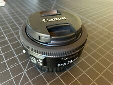 Canon 24mm f2.8 EF-S STM Pancake Prime Lens for EOS APS-C Cameras