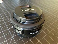 Canon 24mm f2.8 EF-S STM Pancake Prime Lens for EOS APS-C Cameras