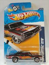 2012 Hot Wheels #173 HW Window Banner HW Racing 3/10 '67 Pontiac GTO Black