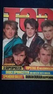 Top 2 1985 Spandau Ballet Bruce Springsteen Simon Le Bon Kiss Sade Madonna Who