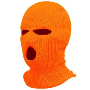 New 3 Hole Full Ski Face Mask Winter Cap Balaclava Beanie Warm Hood Tactical Hat