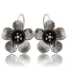 Thai Karen Hill Tribe Flower Earring Pure Silver