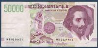 BANCONOTA Banca D'ITALIE.50000 LIRE Pick n°116.a del 25-5-1992 PARTE SUPERIORE