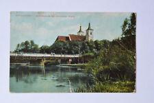 alte Ansichtskarte Schneidemühl Küddowbrücke mit kath. Kirche