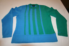 Tyrolia Head USA Vtg Retro Neon Wool Blend Ski Sweater Pullover Womes S Youth L