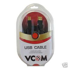 Alta Calidad pelated oro impresora/escáner Cable USB A MACHO A USB B Macho 1.8m