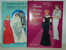 2Uncut Princess Diana Prince Charles Paper Dolls - Tierney Harlow 1985, 1997