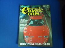 CLASSIC CARS RIVISTA GT40 LOTUS GINETTA G15 FORD 3.1986 AA1