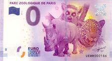 75012 Parc zoologique de Paris 3, Verso Belém, 2017, Billet 0 € Souvenir