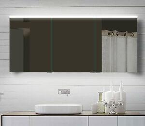 NEU Design Spiegelschrank mit Alu-Rahmen Badspiegel Lichtspiegel 60-160cm YDC