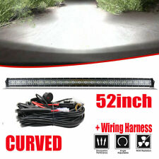 "Curved 52""inch 4550W LED Work Light Bar Combo Driving Off road SUV Car Boat SLIM"