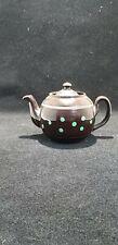 Vintage 1 cup Teapot ALB Alcock Lindley Bloore Green Spots