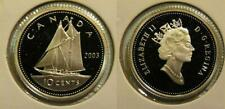 2003 Canada Frosted Silver 10 Cent Dime Proof