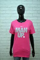 NIKE Donna Maglia Blusa Manica Corta Taglia XL Polo Camicia Shirt Woman Regular