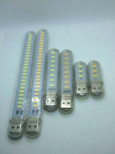 Laptop Licht Mini LED USB Stick Licht warmweiß und kaltweiß 3 / 8 / 24 LEDs