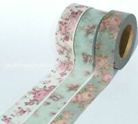 Washi Tape Paper Floral Vintage Flowers Shabby Chic Roses Decorative 15mmx10m