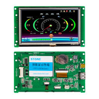 "5"" Smart HMI LCD Module with RS232 RS485 TTL MCU Port for Touch Screen Keypad"