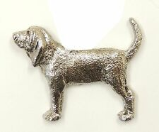 Bloodhound  Brooch, Silver Plated