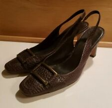 Banana Republic heels size 10M slingback leather made in Brazil