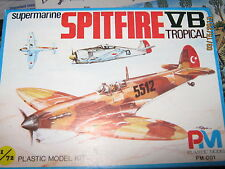 Pm Wwii Supermarine Spitfire Vb Fighter Plane -1/72 Scale-