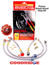 Golf Mk5 Goodridge Braided Brake Hose Lines: FWD: G7.1 - SVW0610-4P 4 Lines - VW