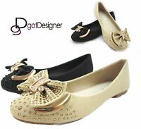 NEW Women's HOT Shoes Fashion Flats Ballet Casual Slip On Comfort Blink Bow