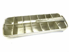 Vintage Used Frigidaire Refrigerator Kitchen Ice Box Metal Silver Ice Cube Tray