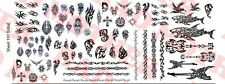 1/6 Scale Custom Tattoos: Tribal variety pack - Waterslide Decals