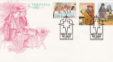 1986 Christmas (Gummed Stamps) Fdc - Melbourne Vic 3000 Pictorial Pmk